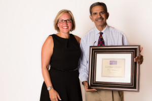 Theressa shown here with Dr. Gurnani, Psychiatrist, Advisor specializing in Geriatric Care.